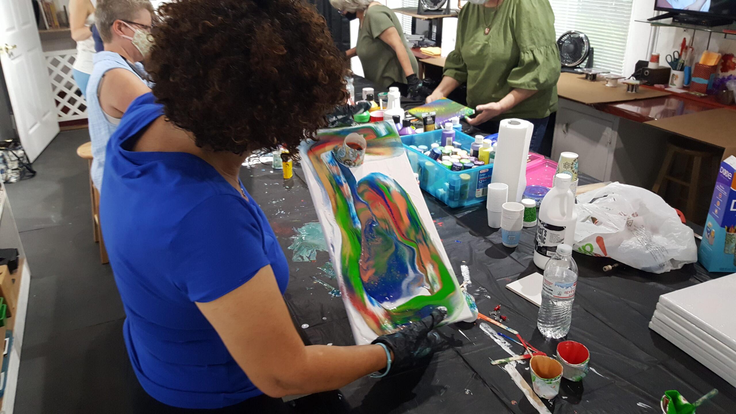 """Acrylic Pour"" Workshop with Agnes Lippi-Johnson 02/06/21"