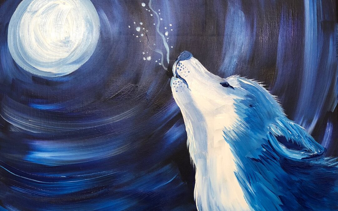 """Paint and Sip – Wolves"" Workshop with Arielle Sekula 01/08/21"