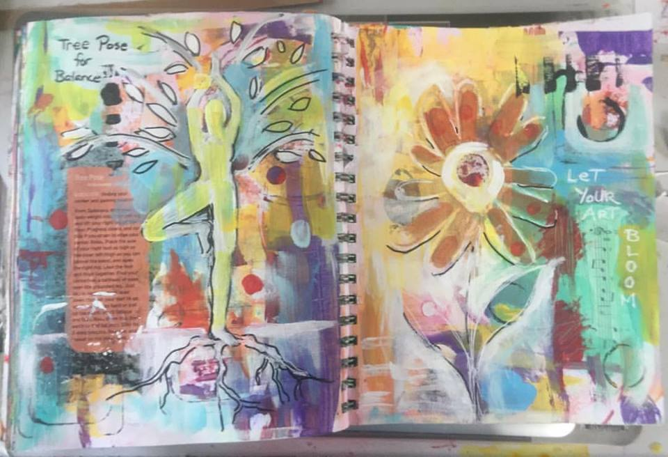 """""""Watercolor and Graphite"""" – journal making with Dawn Marie Dillon – 03/13"""