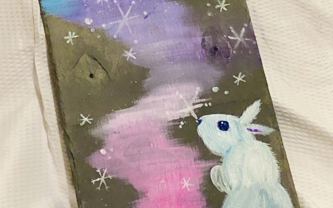 """""""Paint and Sip"""" – Early Winter Scene – Bunny on Slate with Arielle Sekula – 11/19"""