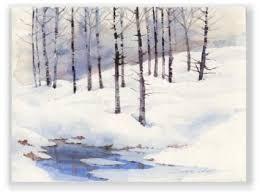 """""""Watercolor and Graphite"""" Class – Winter Scene with Dawn Marie Dillon 01/09"""